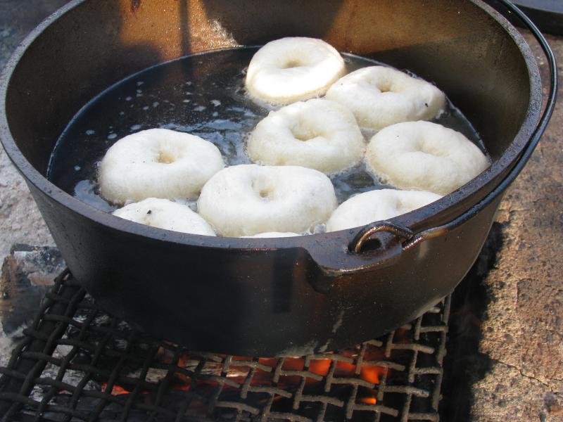 Donuts in oil
