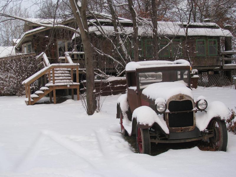 Snowfall RR car view