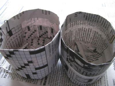 Newspaper pot interior