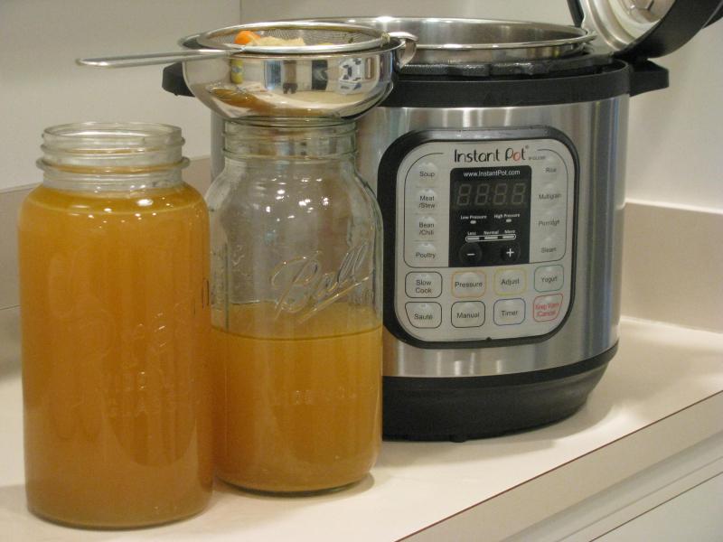 Straining broth instant pot