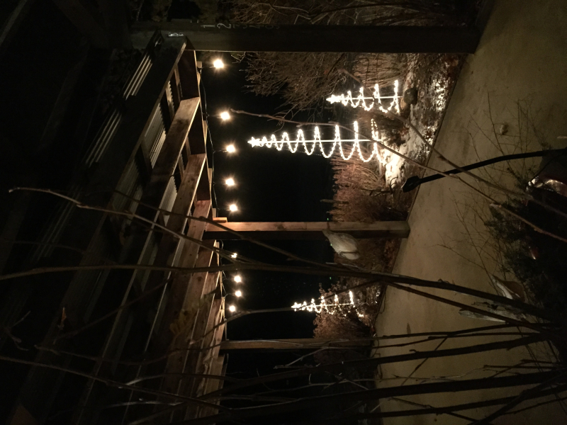Front porch christmas lighting