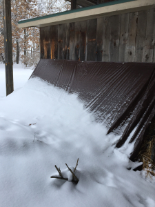 Tarped straw insulation