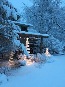 First heavy snowfall 2018 front porch