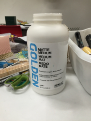 Monoprinting matte medium