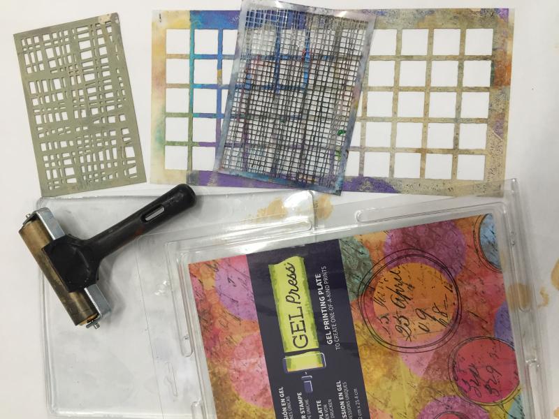 Monoprinting class supplies